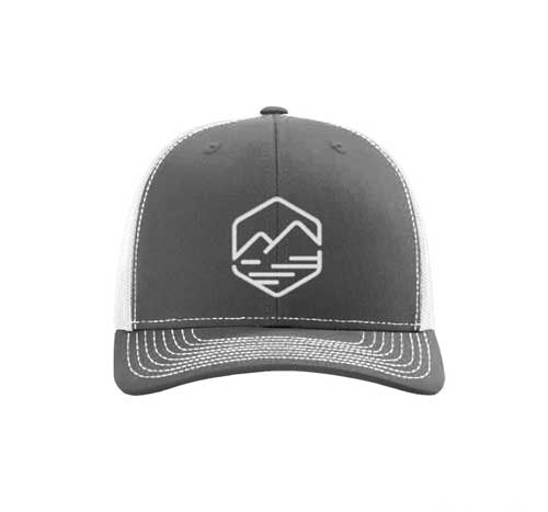 allison outfitters grey trucker hat