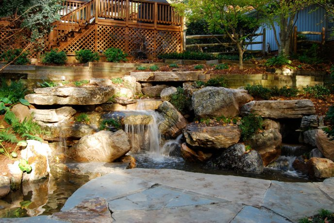 Waterfall landscaping