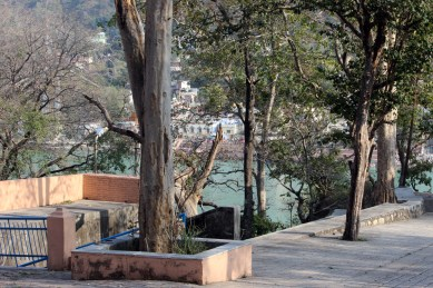 Divine Life Society grounds - view of the Ganges in Rishikesh, India