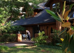 The guru's private residence at Amrit Yoga Institute.