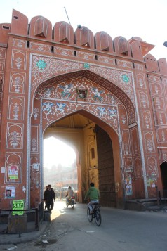 The entire city of Jaipur is surrounded by a pink wall and seven of these impressive gates.