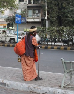 Holy man in Ahmedabad.