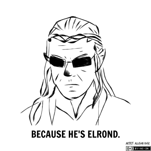 Mock T-shirt design about Hugo Weaving (Elrond in LOTR, Agent Smith in the Matrix)