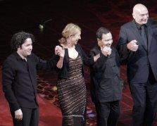 Dudamel, Gilbert, Alaia, and Nouvel (curtain call)