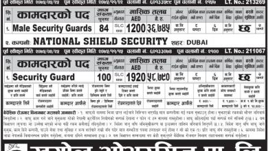 Photo of 184 Candidates Required for security guards job in UAE