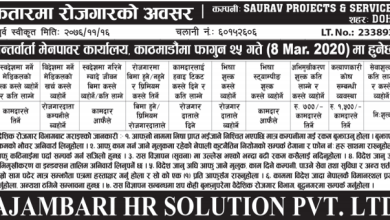 Photo of Vacancy from Saurav Projects & Services, Qatar