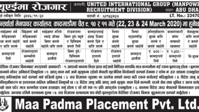 Photo of Vacancy From UAE for Various post