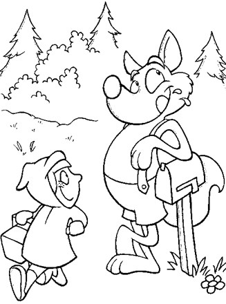 Little Red Riding Hood Coloring Page : little, riding, coloring, Fairy, Tales, Coloring, Little, Riding, Network