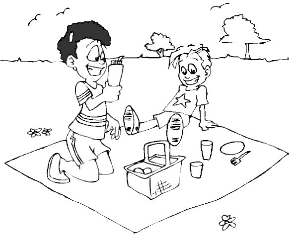 Fall Coloring Pages Picnic Theme Coloring Pages