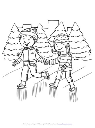 Ice Skates Coloring Pages : skates, coloring, pages, Skating, Coloring, Network