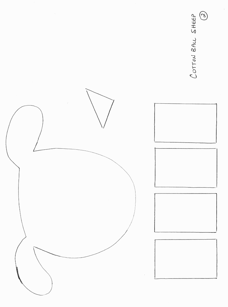 graphic regarding Sheep Craft Printable identified as Paper Plate Sheep Template