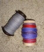 4 oz of alpaca singles and 4 oz of chain-plied BFL