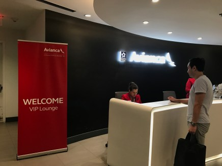 Avianca VIP lounge Miami entrance.