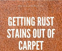 How to Remove Rust Stains from Carpet - All Kleen Carpet ...