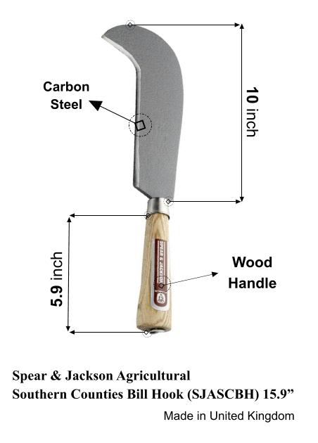Spear and Jackson billhook machete