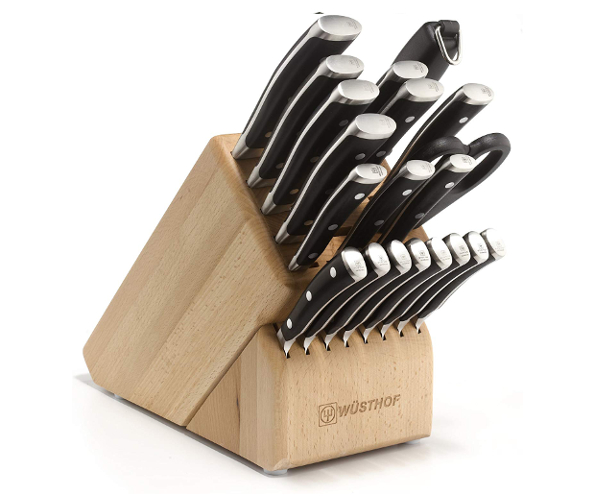 best large knife set wusthof classic ikon 22 piece set