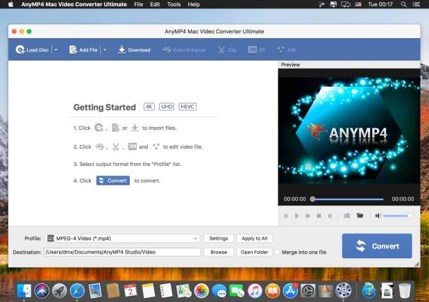 AnyMP4 Mac Video Converter Ultimate 8.2.6 for Mac Free Download