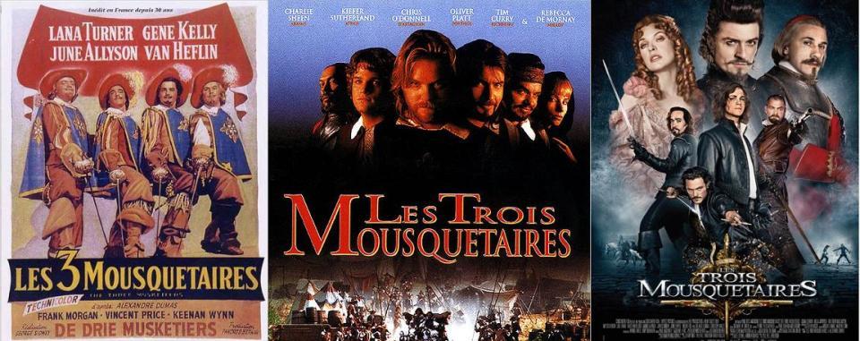 LES 3 MOUSQUETAIRES FILMS
