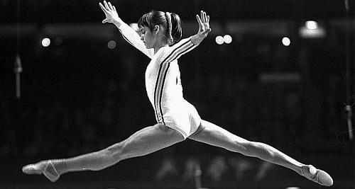 Nadia Comaneci  JO de Montréal 1976. (Keystone)