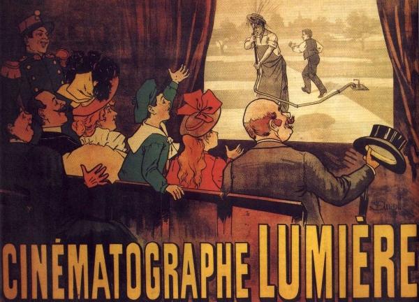 Affiche du cinématographe Lumière par Auzolle 1895