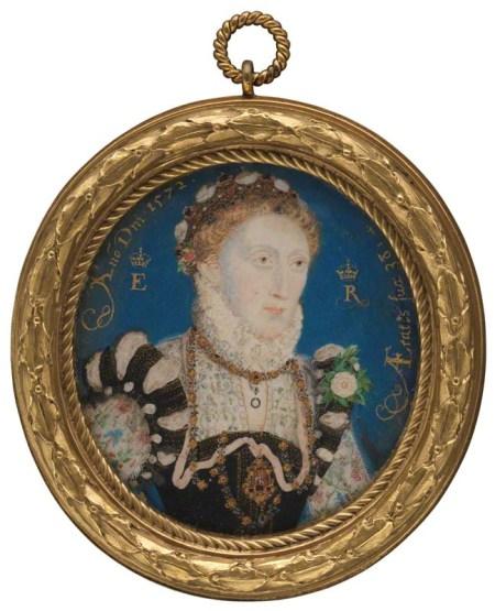Elisabeth 1ere, par Nicholas Hilliard 1572
