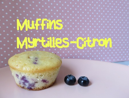 Muffins myrtilles citron