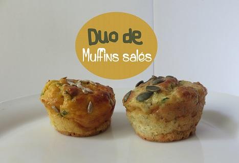 Duo de muffins salés