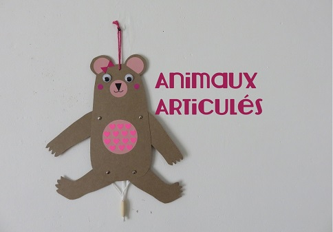 ONE .Animaux articulés M & Mme Ours