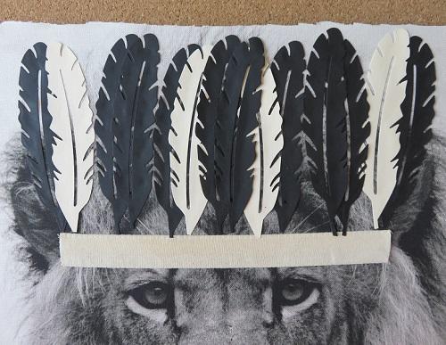 9.Tissu imprimé customisé le LION