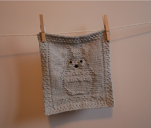 6. DIY knitting totoro craft