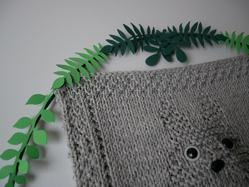 9. DIY knitting totoro craft