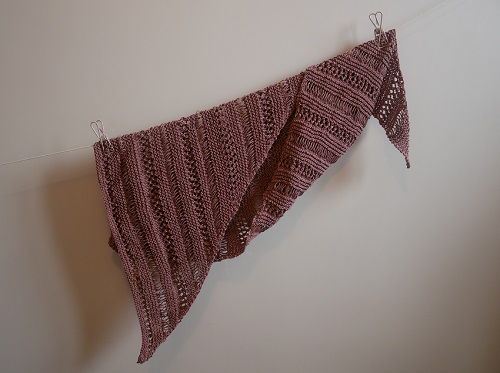 1.knitted stormy sky shawl