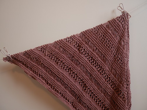 4.knitted stormy sky shawl