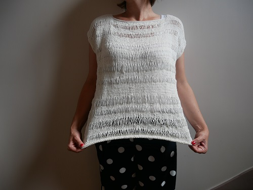 6.tricot- pull ete ajoure