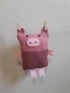 doudou cochon tissu 2