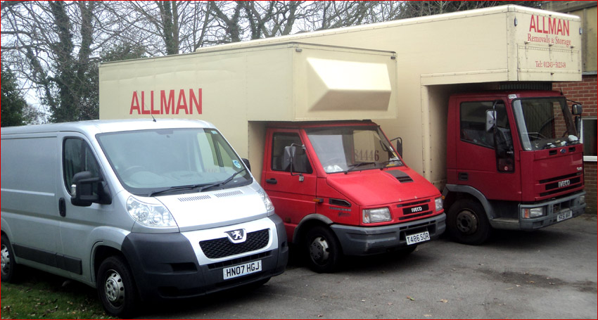 Photo of removal vans owned by Allmans of Chichester