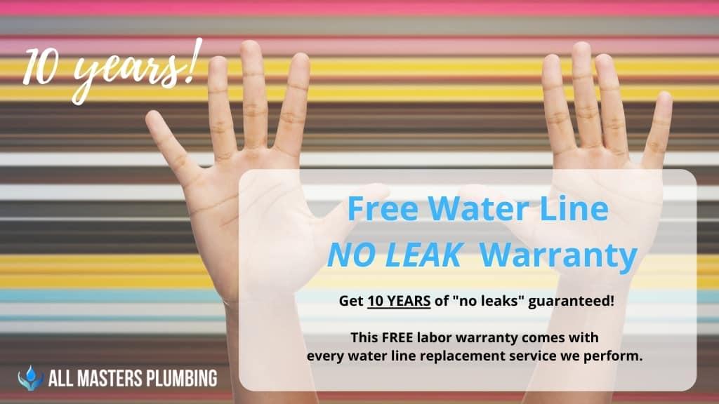 water line replacement warranty in arlington tx