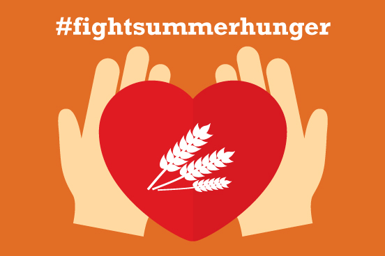 Logo of the Fight Summer Hunger campaign