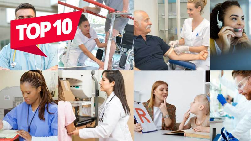 top 10 grid of healthcare workers