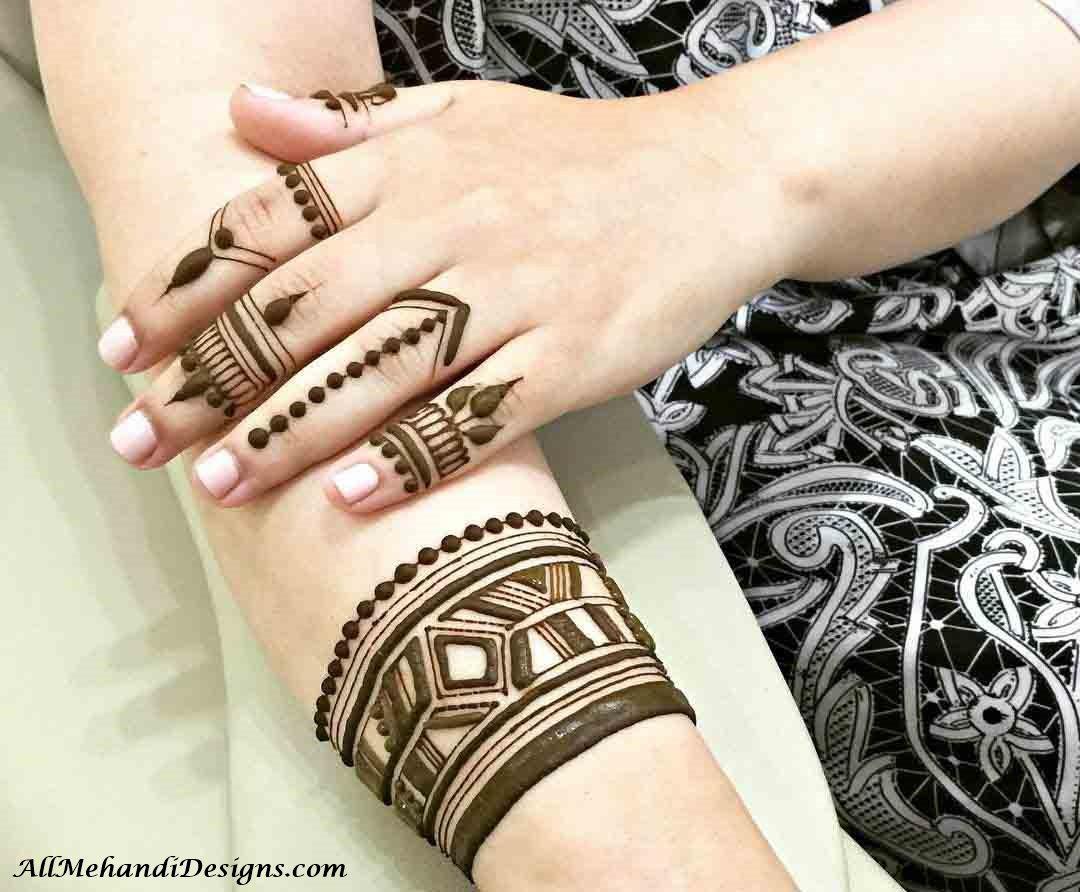 Back Finger Mehndi Design Simple
