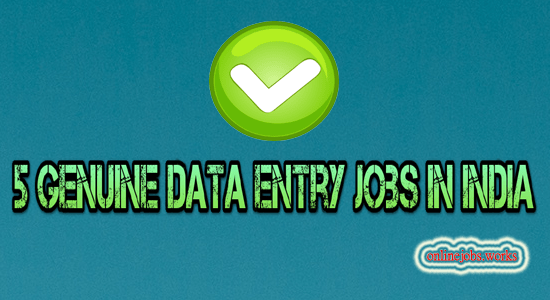 Genuine data entry jobs in India by All money tips