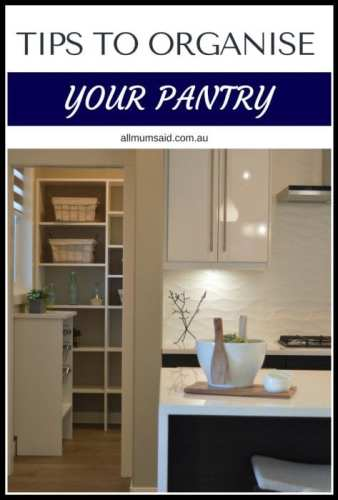 pantry organisation and tidy modern kitchen