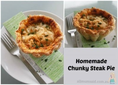 homemade chunky steak pie recipe