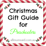 Christmas Gift Guide for Preschoolers