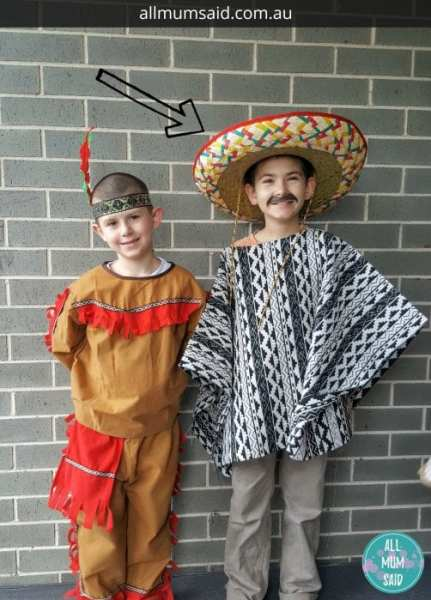 easy DIY mexican costume no sew