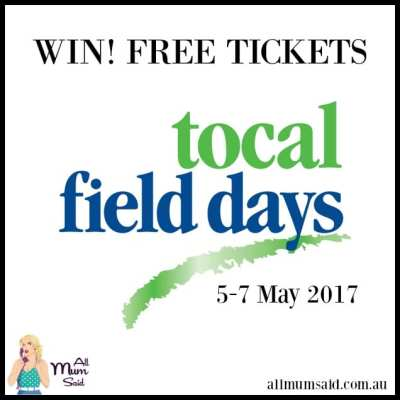 Hunter Valley Tocal field days tickets 2017