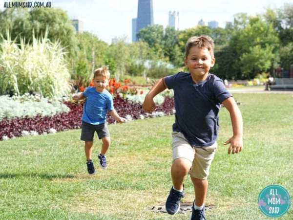 boys running in park - Keep Active And Incorporate Kids