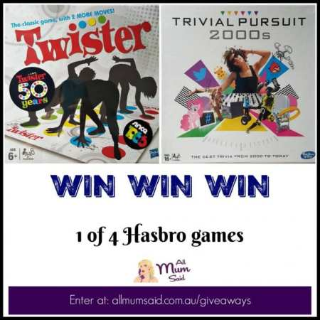 hasbro board games giveaway | twister and Trivial Pursuit 2000's