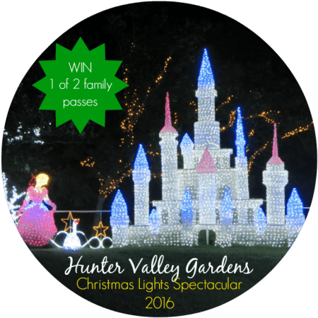 Hunter Valley Gardens Christmas Lights Spectacular 2016 giveaway win