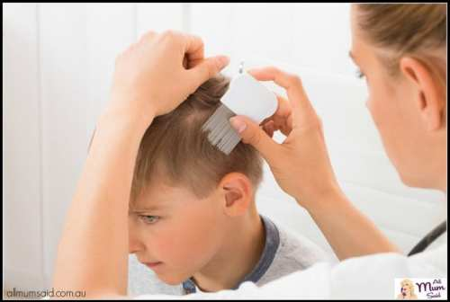 Head Lice Treatments Linked To Behaviour   Mum checking for head lice
